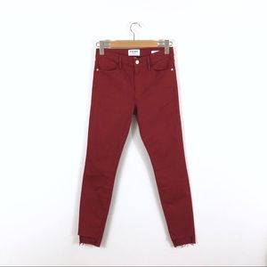 FRAME Denim Le High Skinny Turkish Red Jeans